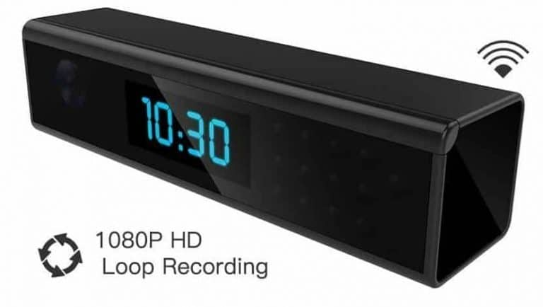 1080P Hd Wifi Hidden Spy Camera Clock, Upgraded Version From Alon