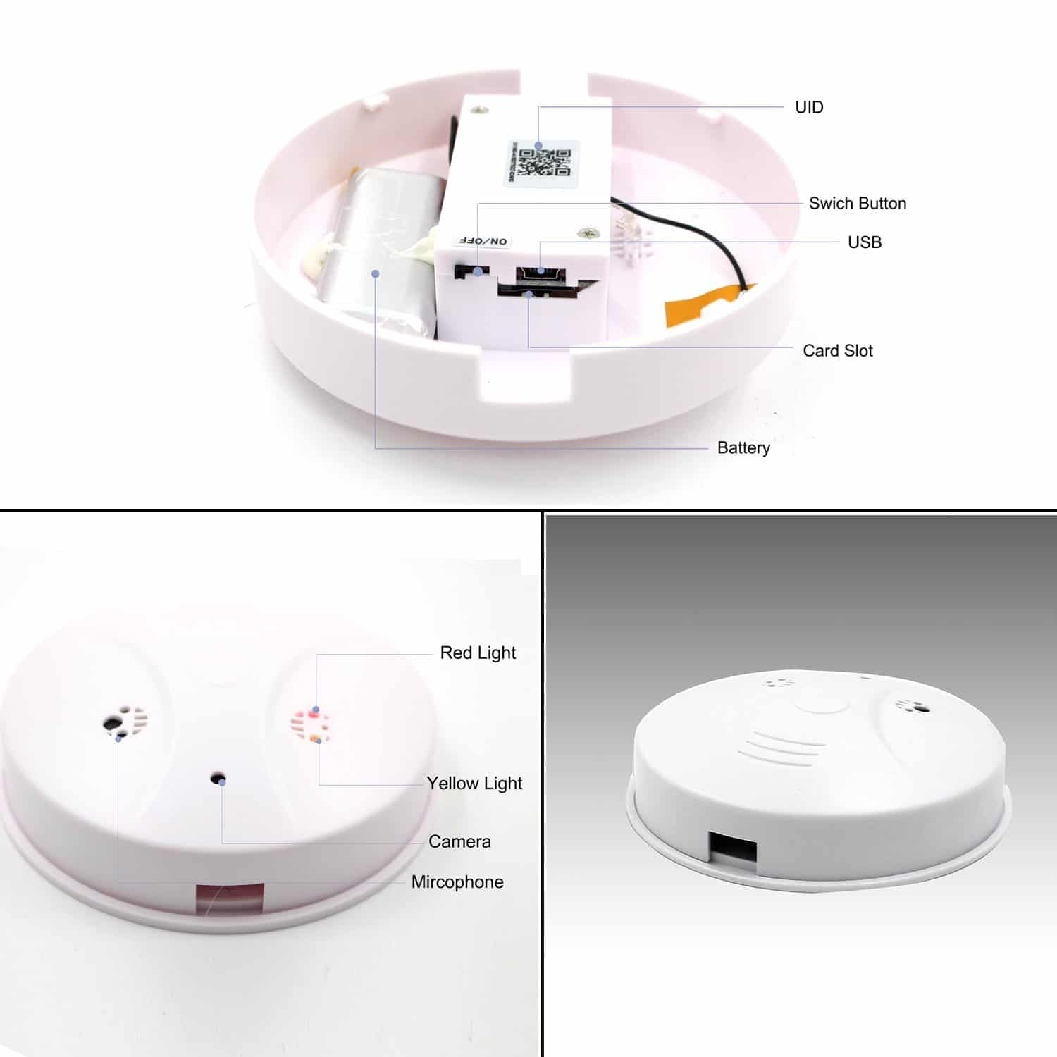 Wifi Hidden Camera, Spy Camera Smoke Detector, 1080P From Daretang