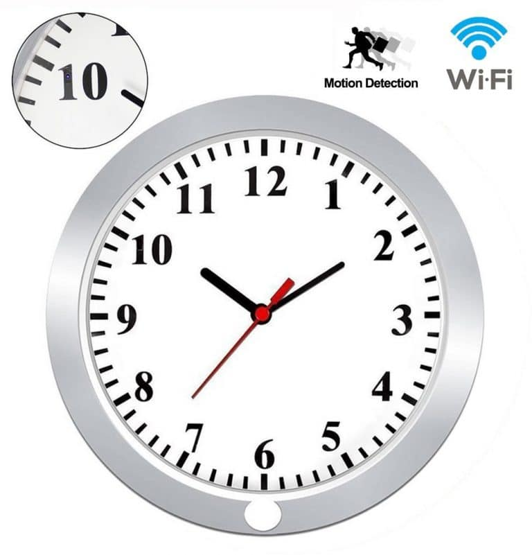 Hd 1080 Wifi Wall Clock Hidden Spy Camera From Kamre