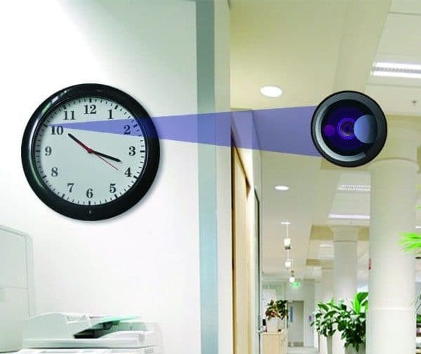 Wifi Surveillance Wall Clock Hidden Camera From Fuvision