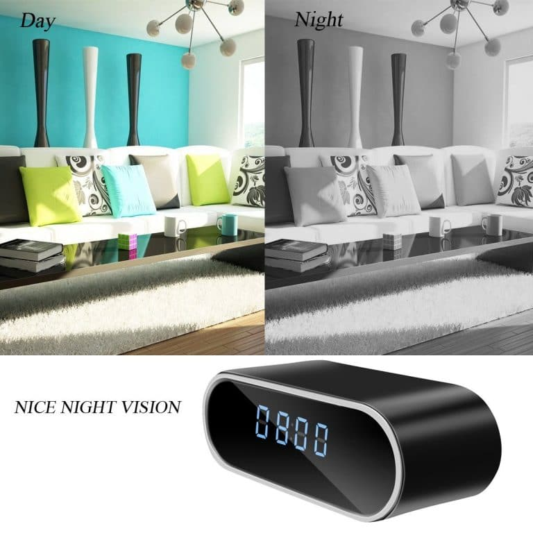 Wifi Hidden Spy Camera, 12 Hour Clock System, 1080P From Poetele