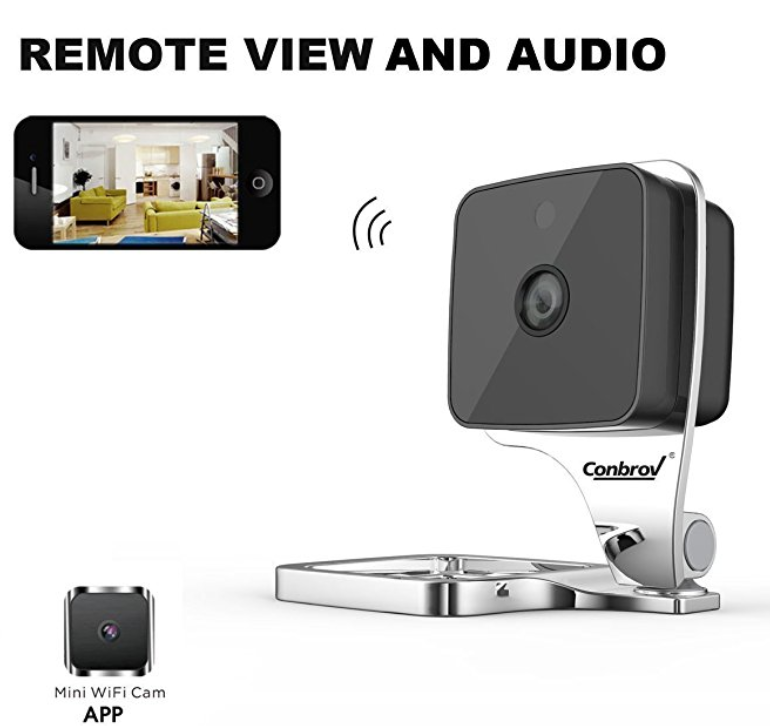 Conbrov® Wf90 HD Mini Wifi Indoor Motion Activated Security Camera Monitor[