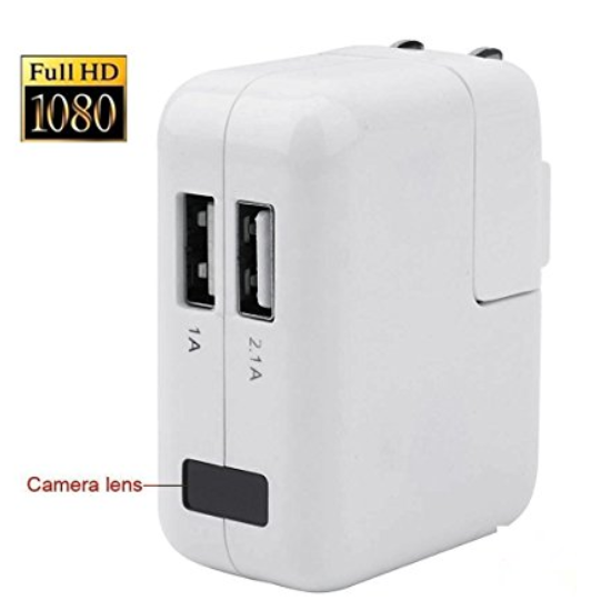 Hidden Camera USB Wall Phone Charger