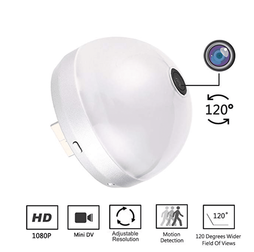 PANNOVA HD 120 Degree Mini Wide Angle Wireless Spy WI-FI Camera