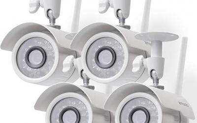 Long-range night vision security cameras