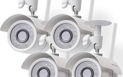 Long-range night vision security cameras